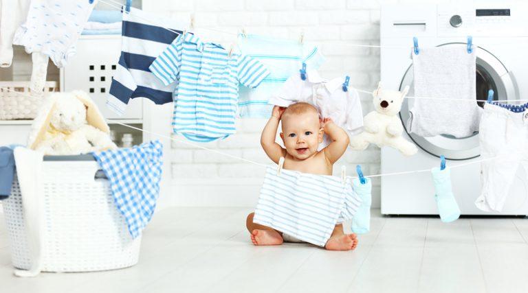 giặt quần áo sơ sinh bằng máy